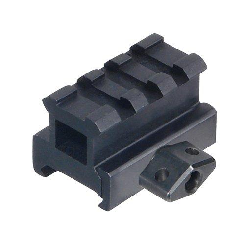 UTG Med-pro Compact Riser Mount, 0.83  High, 3 Slots , Black