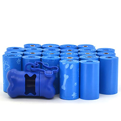 Best Pet Supplies Dog Poop Bags for Waste Refuse Cleanup, Doggy Roll Replacements for Outdoor Puppy Walking and Travel, Leak Proof and Tear Resistant, Thick Plastic - Blue (Unscented), 360 Bags