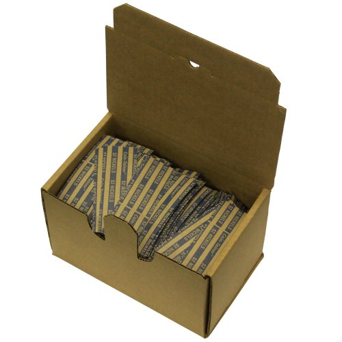 The Coin-Tainer Co. Flat Coin Wrappers, Nickel, 1000 Count (30005), Blue/Brown