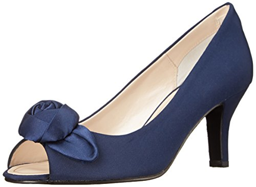 Caparros Women's Willamena Dress Pump, Navy Faille, 6.5 M US