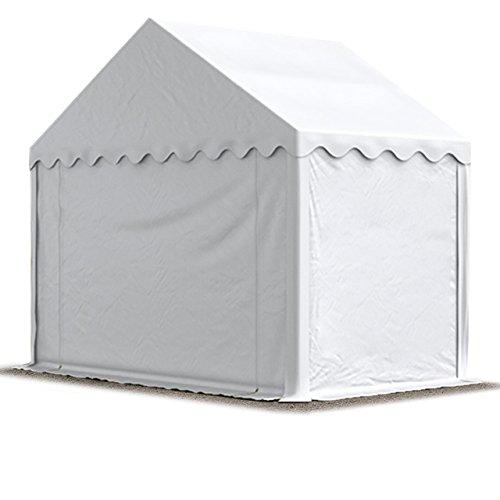TOOLPORT Lagerzelt Unterstand 3 x 2 m in weiß Weidezelt ca. 500g/m² PVC Plane nach DIN wasserdicht