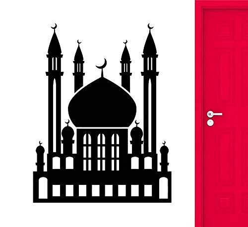 jtxqe Pegatinas Vintage Etiqueta de Pared de Vinilo islámica Allah musulmán musulmán Eid Mubarak Ramadan Kareem hogar Sala de Estar dormio decoraci