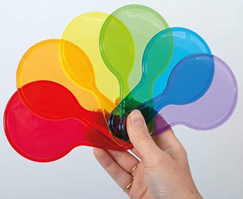 TickiT 73109 paletas de mezcla de color translúcido, 6 colores, primario y secundario.