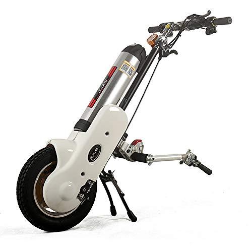 Compacte rolstoelbestuurder met elektromagnetische rem nachtlampje opvouwbaar in hoogte verstelbaar voor sportrolstoel vouwrolstoel foldingwheelchair wit