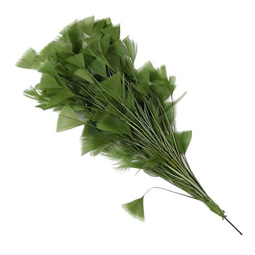 Bunter Natur Dekoration Hahnfeder fasan Feder Pfauenfedern Kostüm Feder Fasanenfedern Hutfeder - Grün