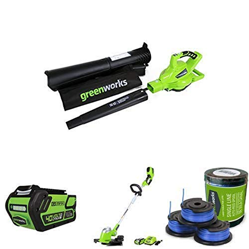 Buy Bargain Greenworks 40V Variable Speed Cordless Blower Vacuum, Battery Not Included with Lithium ...