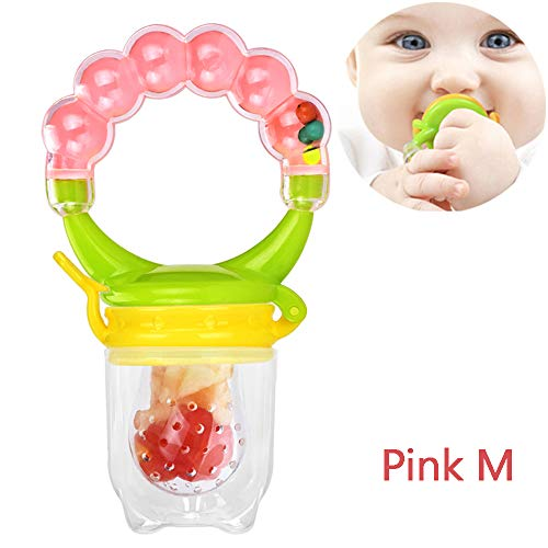Babyvoeding Feeder Silicone Fruit Feeder met Bell Infant Tandjes Toy Teether in Appetite Stimulating
