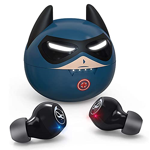 Kids Wireless Earbuds XZC Captain Design in-Ear HiFi Stereo TWS Wireless Ear Buds for Kids Adult Gift 36H Playtime Bluetooth 5.0 Headphones with Dual Micphone for Workout Sport
