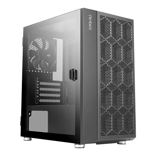 antec pc gaming cases Antec NX200 M, Micro-ATX Tower, Mini-Tower Computer Case with 120mm Rear Fan Pre-Installed, Mesh Design in Front Panel Ventilated Airflow, NX Series, Black