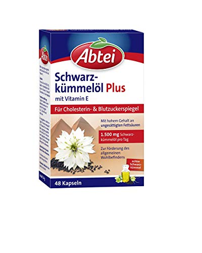 Abtei Schwarzkümmelöl plus, 48 Kapseln