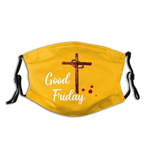 Good Friday-Face Mask met 2 Filter, Ademend Verstelbare Filters Masker Goede Vrijdag Balaclava voor Mannen Vrouwen Grootte: M
