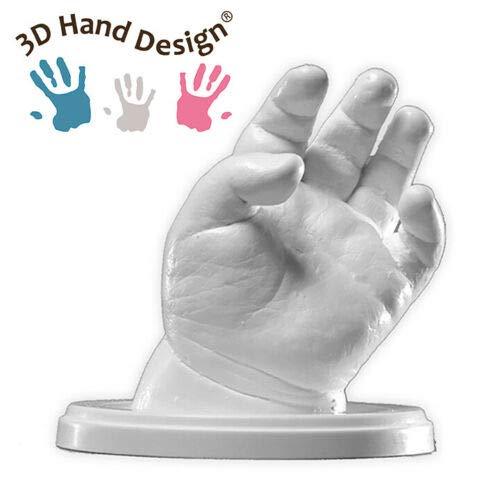 Lucky Hands Family /& Wedding Abformset DUO Kinder /& Jugendliche Familie 3D Handabdruck Set DIY f/ür 2 Erwachsenenh/ände inkl. Acrylsockel 18 x 18 cm | mit Beschriftung Gipsabdruck f/ür Hochzeit