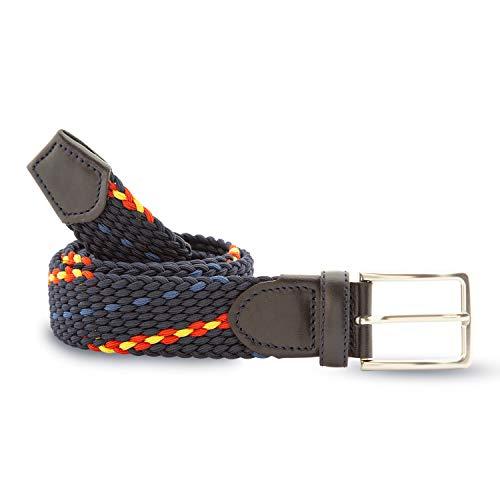 Cencibel Smart Casual Cinturón Elástico Azul Marino Bandera España (110)