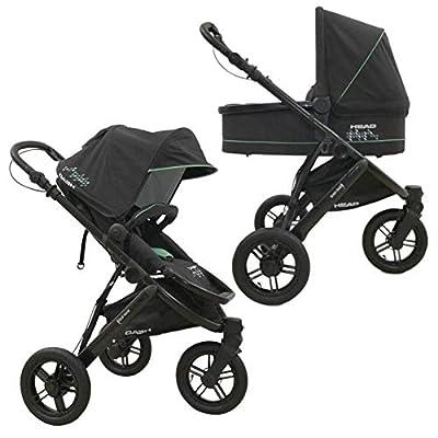 Knorr-baby Head - Cochecito combi de 3 ruedas gris Color gris oscuro.