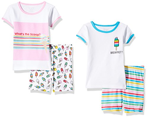 The Children's Place Baby Girls' 4-Piece Pajama Set, Multi, 9-12MOS