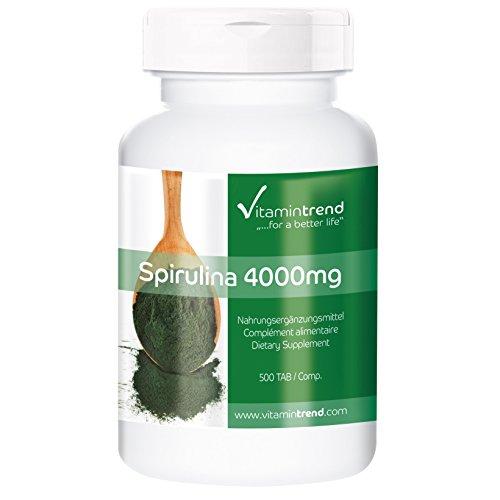 Espirulina 500mg – 4000mg por dosis diaria – Vegana – 100% Alga...