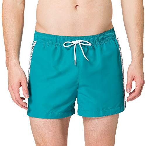 Calvin Klein Short Drawstring Baador para Hombre, Seans Verde Azulado, M