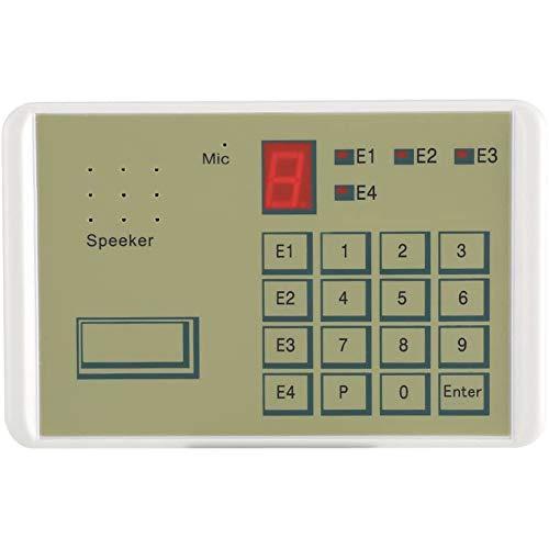 Wired Telefoon Voice Auto Dialer Inbraakbeveiligingsoplossing alarmsysteem met montage accessoires Comprehensive Beveiliging voor thuis en zakelijk,Beige