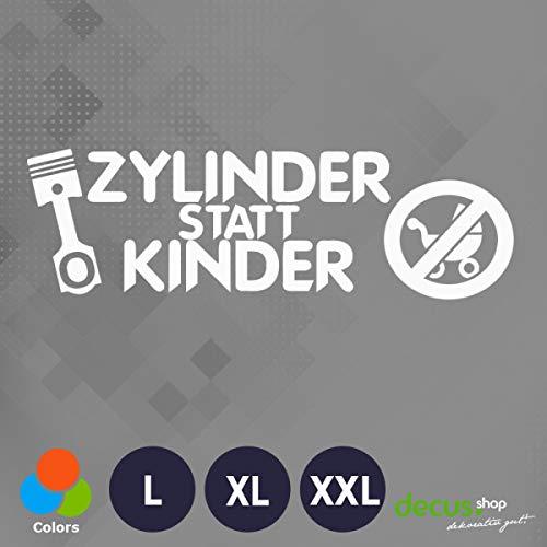 Decus Zylinder statt Kinder L 0074 (weiß) // Sticker OEM JDM Style Aufkleber
