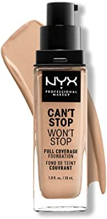 NYX PROFESSIONAL MAKEUP Can't Stop Won't Stop Full Coverage Foundation - Natural (Nude With Neutral Undertone)