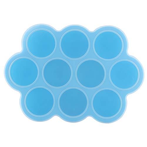 シリコーンフードフリーザートレイ10穴再利用可能 製氷皿 アイストレー製氷皿 シリコン 離乳食 保存容器 冷凍可能 小分け(あ)