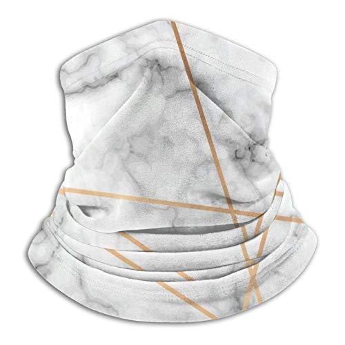 Calentador de cuello de microfibra reutilizable para hombres y mujeres, resistente al viento, transpirable, bandana para correr al aire libre, ciclismo, piedra gris, mármol, líneas geométricas doradas