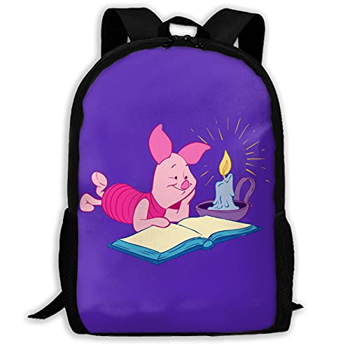 Winnie Pooh - Mochila unisex de poliéster, estilo informal, mochila de viaje