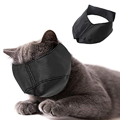 Beikal Muzzle for Cat Grooming, Nylon Cat Muzzles Face Mask, Pet Groomer Helpers Tools, Preventing Scratches and Anti-biting by Beikal