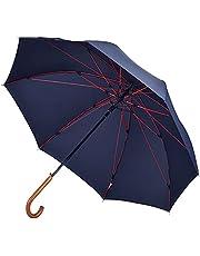 【台風・豪雨対応】Anntrue 傘 メンズ 長傘 木製ハンドル 台風対応 丈夫 軽量 強風 撥水 梅雨対策 紳士傘 大きい 自動開ステッキ傘 通学