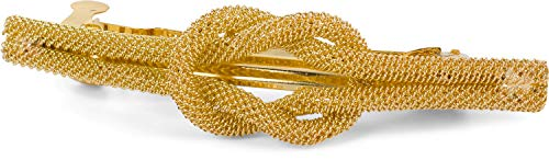 styleBREAKER Pinza de pelo para damas con detalle de nudo en aspecto de red, pinza de pelo, broche, adorno de pelo, tocado 04027032, color:Dorado