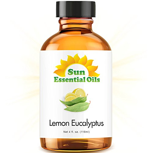 Lemon Eucalyptus Essential Oil (Huge 4oz Bottle) Bulk Lemon Eucalyptus Oil - 4 Ounce
