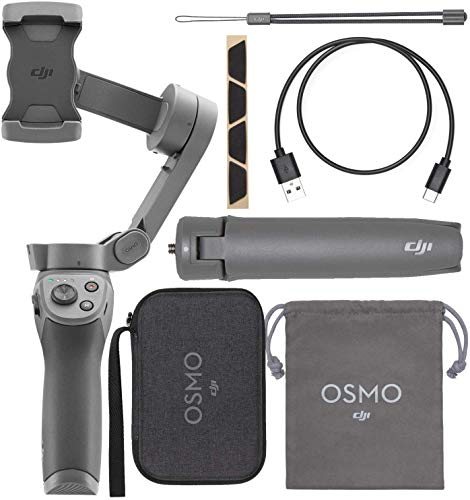 DJI Osmo Mobile 3 Handheld Smartphone Foldable Gimbal - with Cell Phone Lens and More