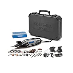 Premium rotary tool kit - Includes 4300 high performance rotary tool, 5 attachments, 40 high-quality Dremel accessories, and plastic storage case. High performance motor – Our most powerful motor delivers maximum performance even in the most demandin...