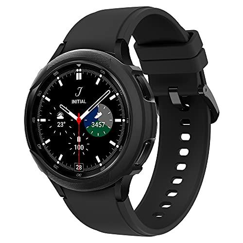 Spigen Liquid Air Armor Kompatibel mit Galaxy Watch 4 Classic Hülle 46mm (2021) - Schwarz