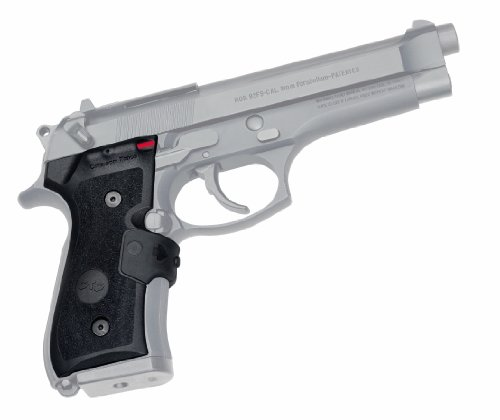 Crimson Trace LG-402M MIL-SPEC Lasergrips Laser Sight with Instinctive Activation for Beretta, Defensive Shooting and Competition