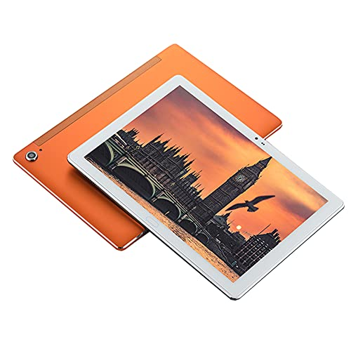 GANGG Tableta Android 10.8 Pulgadas MT6797 Deca Core 13 / 5MP Dual 4G LTE 6GB RAM 128GB ROM 1920 * 1200 Pantalla HD IPS, Tableta 2.5K IPS, Adecuada para Oficina, Aprendizaje, Juegos,Naranja