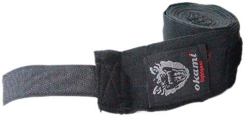 OKAMI Fightgear Handbandage Pro Wrap, Schwarz, 460 X 5 X 5 cm