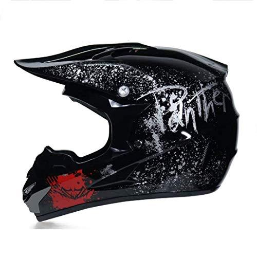 BLLJQ Casco De Motocross Hombre con Gafas, Guantes De Máscaras (4 Pcs) - Dot Certificado - Casco MTB Integral Off-Road Enduro Racing Scooter Motocicleta Quad para Niño Adulto (Size : S(52-53cm))