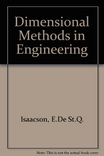 Dimensional Methods in Engineering