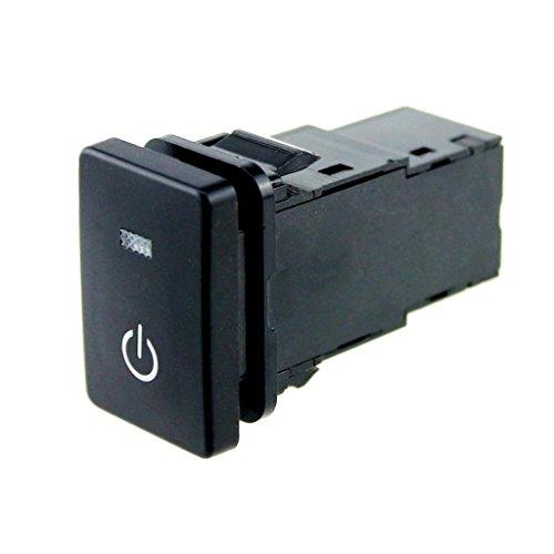 Interruptor De Botón De Encendido De LED Azul 12V Para Toyota Land Cruiser Prado RAV4