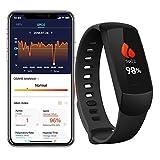Lunasea Monitor de sueño inalámbrico SpO2 con alarma de vibración, monitor de ritmo cardíaco, monitor inteligente de fitness con aplicación