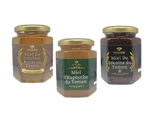 Pack 3 miels du Yemen - miels rares et prestigieux avec des
