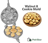 Walnut 8 Cookie Mold (Oreshek + flower) Maker Oreshki Rissian Soviet Cookies Pastry Oreshnitsa Орешница by PetriStor