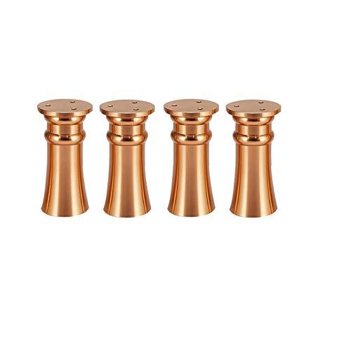 KISAD Patas de Muebles Patas de Mesa de Repuesto Pies de Muebles Ajustables * 4 Metal DIY TV Gabinete Piernas Mesa de Centro Patas 8-12 cm (Size : 12cm)