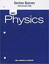 Physics : Section Quizzes with Answer Key