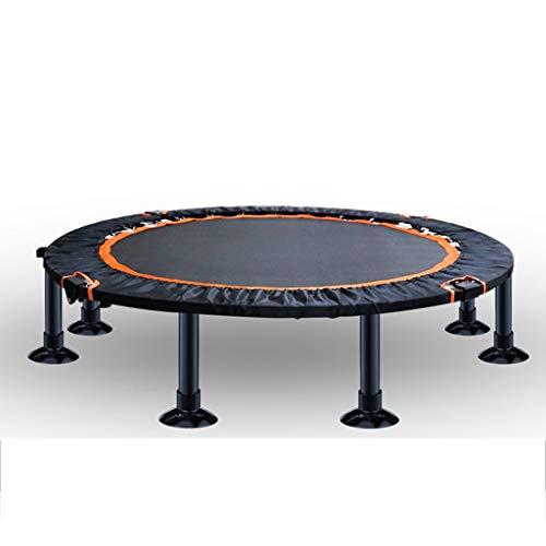 GDD Fitness trampolini Tappeto Elastico con Corrimano Ausiliario, Portata 150 kg, Bambini Adulti E Anche Regali per Bambini Trampolino Interni (Color : Orange, Size : 1)