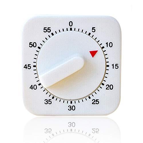 jidan Temporizador de Cocina Temporizador de Cocina Digi Blanco 60 Minutos Cocina mecánica Temporizador de Cuenta atrás Digital Alarma del Aviso de Herramientas Alimentación Aplicaciones Preparationa