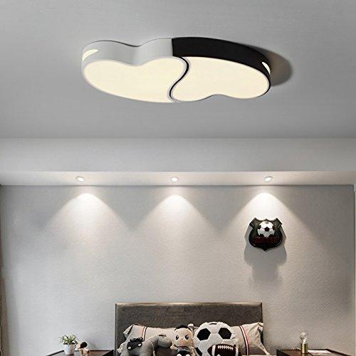 WoOnew Lampe de plafond Fer Heart-Shaped personnalité créatrice chaud Mignon Chambre Chambre Enfants Garçon Fille mince, l'éclairage est blanc 56x30cm,