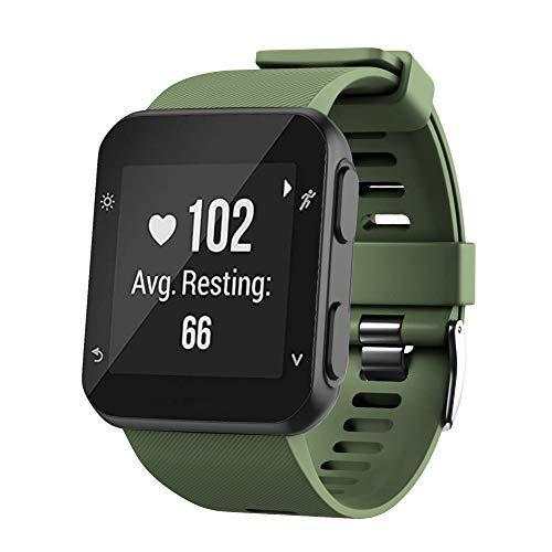 WIIKAI Bracelet Compatible avec Garmin Forerunner 35 Réglables Replacement Band pour for Garmin Forerunner 35 Wristband Bracelet de Montres(Armée Verte)