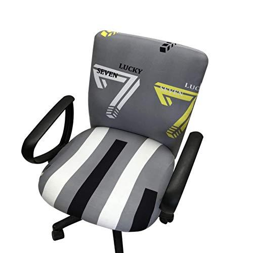 Cubierta de silla de oficina de computadora, silla de silla removible Silla de oficina de cobertura elástica para reposabrazos - no incluye sillas